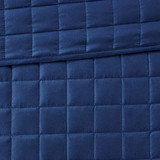 Admiralty Navy and White 8-Piece Comforter Set quilted pattern