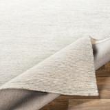 Silver Strada Wool and Viscose Rug roll