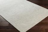 Silver Strada Wool and Viscose Rug floor