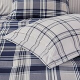 Sconset Navy Plaid 8-Piece Reversible Comforter Set close up 1