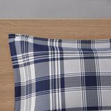 Sconset Navy Plaid 8-Piece Reversible Comforter Set shams