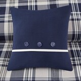 Sconset Navy Plaid 8-Piece Reversible Comforter Set decorative pillow
