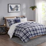 Sconset Navy Plaid 8-Piece Reversible Comforter Set view 5