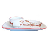 Lobster Platter and Dip Bowl side view