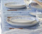 Brisa Ria Blue Salad-Dessert 9 inch Plates lifestyle image