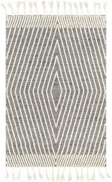Norwood Charcoal Diamond Wool and Jute Area Rug