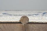 Ivory Seashore Waves Indoor-Outdoor Rug edge