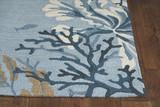 Deep Blue Lagoon Hand-Hooked Area Rug corner