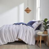 Newport 5-Piece Blue Striped Cotton Queen Comforter Set view 3