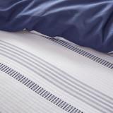 Newport 5-Piece Blue Striped Cotton Queen Comforter Set stripes