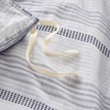 Newport 5-Piece Blue Striped Cotton Queen Comforter Set ties