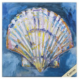 Tropical Bright Scallop Shell Canvas Art