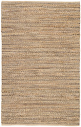 Canterbury Natural Solid Tan-Black Woven Area Rug