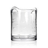 School of Fish Etched Glass Ice Bucket