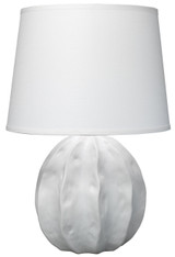 Urchin Table Lamp in Matte White