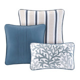 Bayside Shells King Size 7-Piece Comforter Set - Decorative Pillows