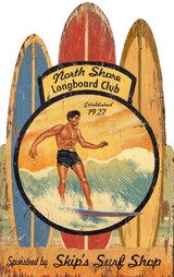 Vintage Hawaiian Surfing Custom Wall Decor