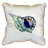 Trumpet Sea Shell Coastal Pillow