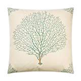 Teal Sea Fan Luxury Pillow