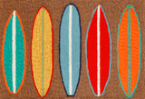 Surfboard Stripes Area Rug