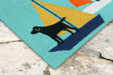 Sailing Puppy Dogs Accent Rug close up
