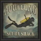 Aqualung Scuba Shack Beach Poster Wall Art