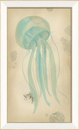 Blue Jellyfish Coastal Wall Art