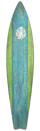 Green and Blue Surfboard Wall Art