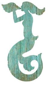 Aqua Mermaid Silhouette - Right