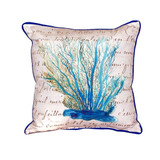 Blue Coral Indoor-Outdoor Throw Pillow