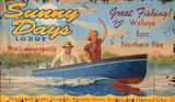 Lake Resort Lodge Sign