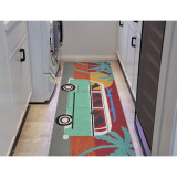 Beach Trip Puppies Accent Rug runner room view 1