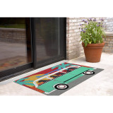 Beach Trip Puppies Accent Rug 2 x 3 room view