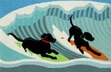 Surfing Puppy Dogs Accent Rug