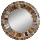 Jeremiah Round Wood Mirror