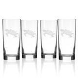 Sea Turtle Etched Cooler Size Glasses - Set of 4