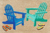 Bright Adirondack Chairs Accent Rug