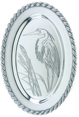 Latitudes Large Oval Heron Serving Tray