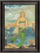 She Was There to See the Race - Mermaid Art