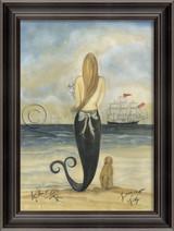 Lovesick on Friday Mermaid Wall Art - Black Frame