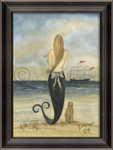 Lovesick on Friday Mermaid Wall Art - Black Frame