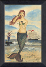 The Call of the Sea Mermaid Framed Small Wall Art