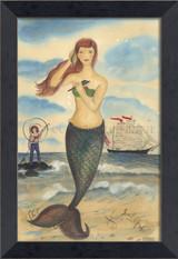 The Call of the Sea Mermaid Framed Small Wall Art