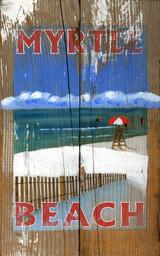 Vintage Lifeguard Custom Beach Sign