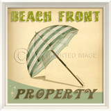 Beach Front Property Retro Poster Art