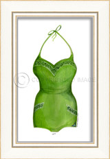 Classic Swimsuit in Green Framed Art