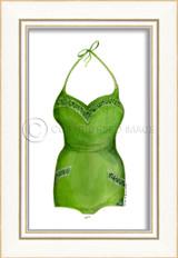 Classic Swimsuit in Green Framed Art