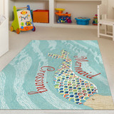 Mermaid Crossing Accent Area Rug room view 1