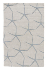 Blue Starfishing Wool Area Rug