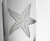 Starfish Etched Cooler Glasses - Set of 4 close up